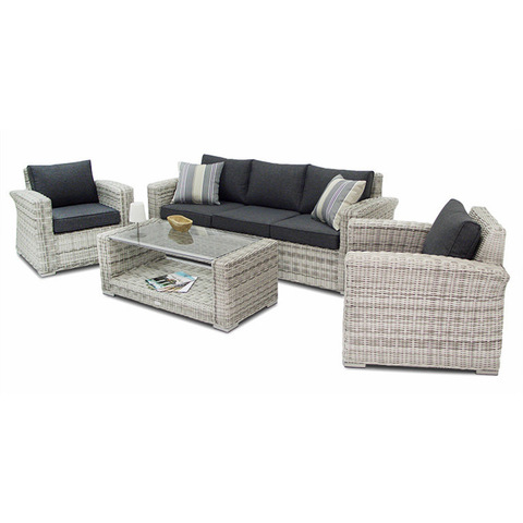 elegant and modern new seating Patio garden set with table Wicker rattan SOFA outdoor Furniture