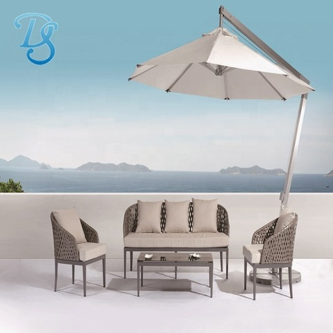 garden sofas rattan furniture aluminium frame outdoor furniture sofa patio sofa sets with side pole