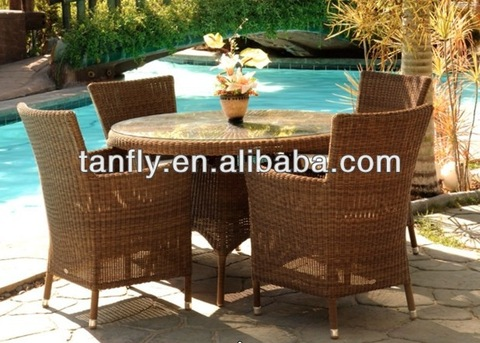 patio garden aluminum round pe rattan chairs pictures & photos