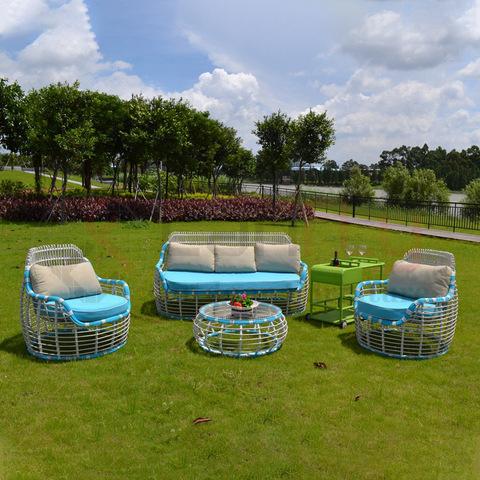 All Weather Rust Proof Aluminum frame garden rattan furniture outdoor sofa