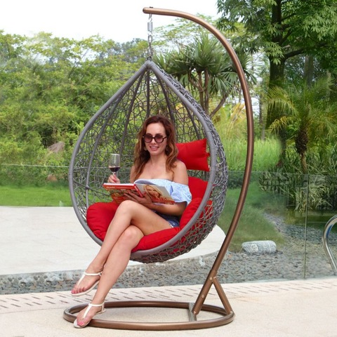Home Outdoor Rattan Used Wicker Patio Swing Chair pictiúir & grianghraif