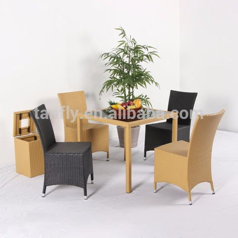 Hot Sell Outdoor furniture Rattan Wicker Cheap Garden Patio Isiokwu na oche TF-6103