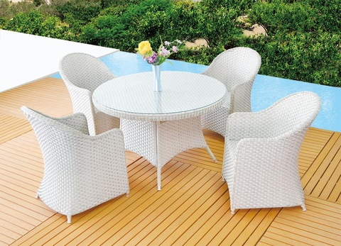 Outdoor furniture garden rattan leisure table and chairs set furniture pictures & photos