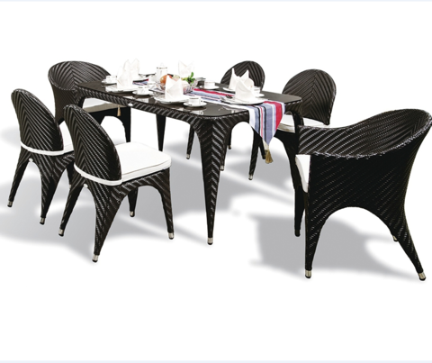 Outdoor furniture garden rattan leisure table and chairs set furniture