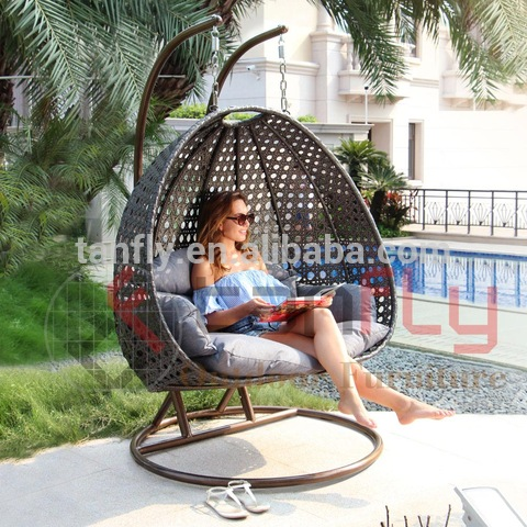 Outdoor furniture hanging garden rattan swing chair