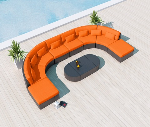 Patio Modular Sectional Couch Rattan Garden Furniture Outdoor Sofas pictures & photos