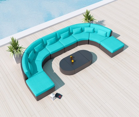 I-Patio Modular Sectional Couch Rattan Garden Ifenisha Yangaphandle Sofas