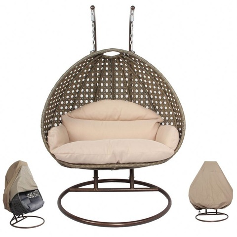 Kerusi Swing Seat 2 Seater Garden Hanging Rotan Swing 3 Seats Chair gambar & gambar