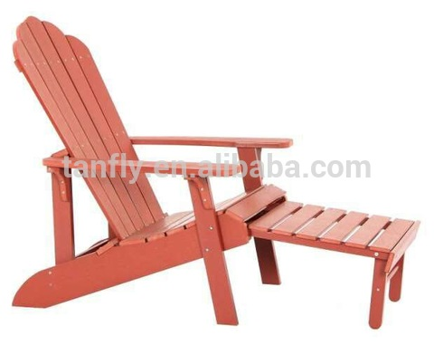 Wholesale furniture dropship outdoor wood plastic adirondack chair foldable