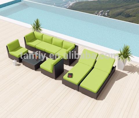 Wicker Poly Rattan Patio Furniture Outdoor Lofa Sofa Setịpụrụ foto & foto