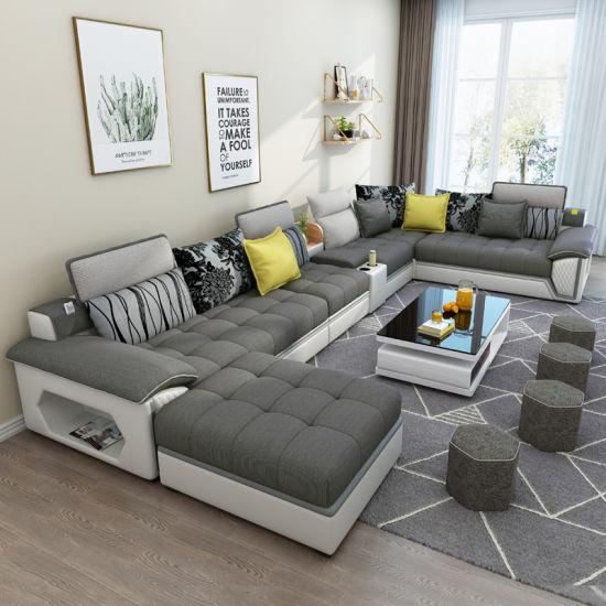 China Home Furniture Hot Selling Modern Leisure U Shape 7 ...