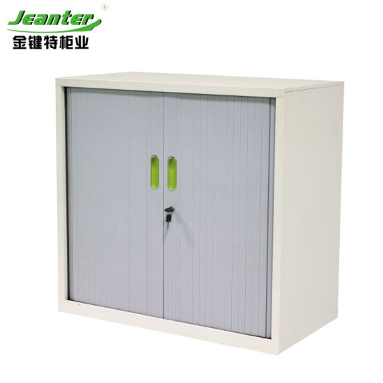 China India Furniture Rolling Shutter Door Storage Cabinet For