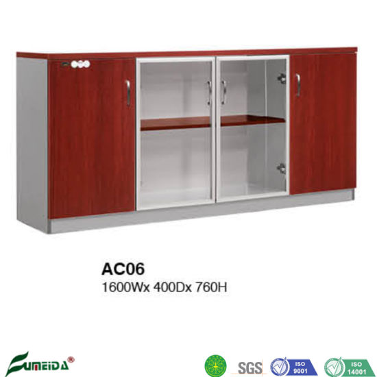 China Melamine Modern Glass Doors File Cabinet Office Storage