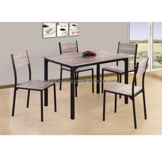 China Uni Homes 5 Piece Dining Table Set Wood Metal Dining Room