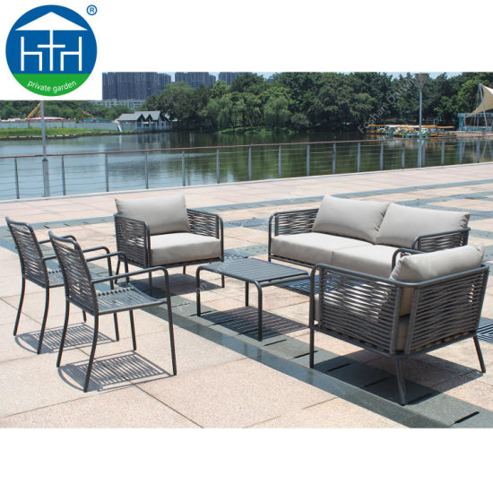 China Garden furniture Patio Table Chair Round Rope Weaving Sofa