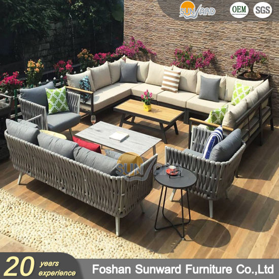China Customized Modern Chinese Outdoor Garden Rope Sofa Furniture