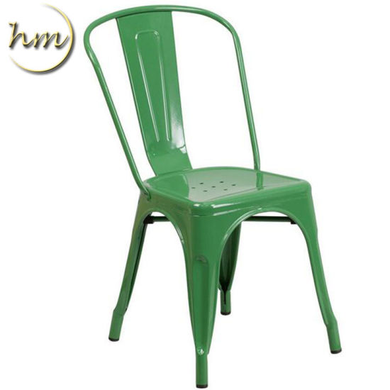 Wood /& Metal Dining Chairs Good Condition Stackable