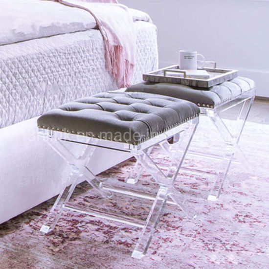China Acrylic Bench Stool Sofa Bench Hotel Stool Bed Side Bench