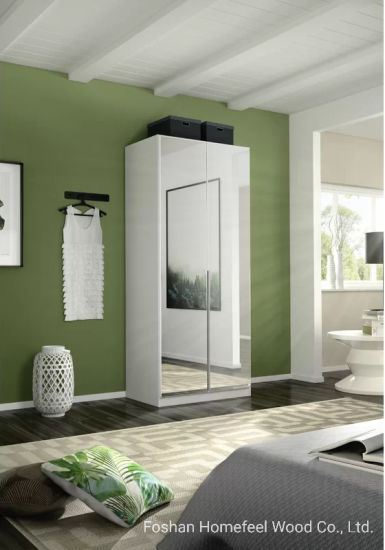 China Modern Full Mirrored Bedroom Furniture Wooden Wardrobe