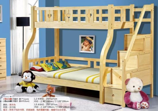 China Pine Wood Kids Bunk Beds For Sale Easy Install Children