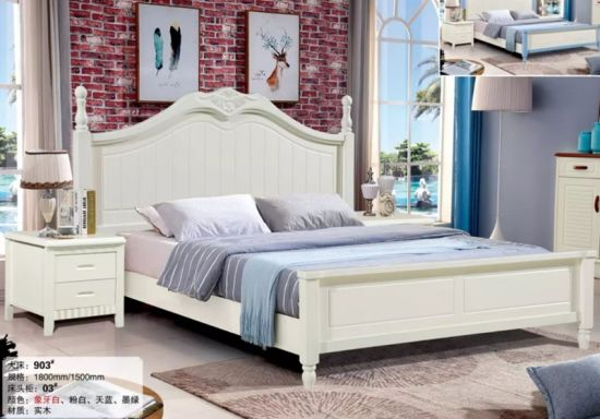 China Professional Solid Wood Platform Bed Wooden Beds For Sale