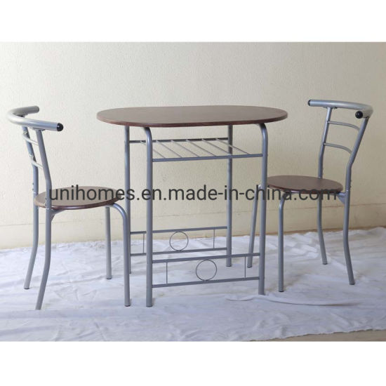 China 3 Piece Dining Table Set Compact 2 Chairs Table Set With