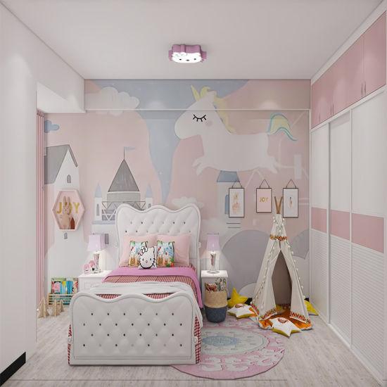 China E E Living Girls Children Youth Kids Pink Modern Bedroom Set