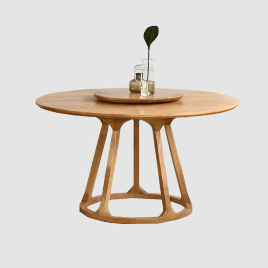 china restaurant furniture round wood dining table set for