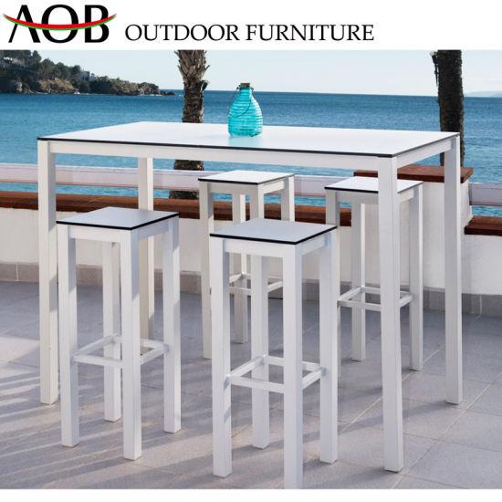 China Modern Outdoor Garden Hotel Patio Restaurant Bistro Resort Dining Furniture Bar Stools Chair T