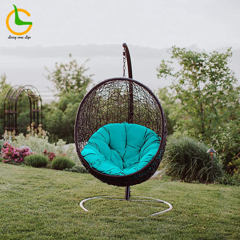 Latest Rattan Egg Chair Outdoor Hanging Hammock Chaise Lounge