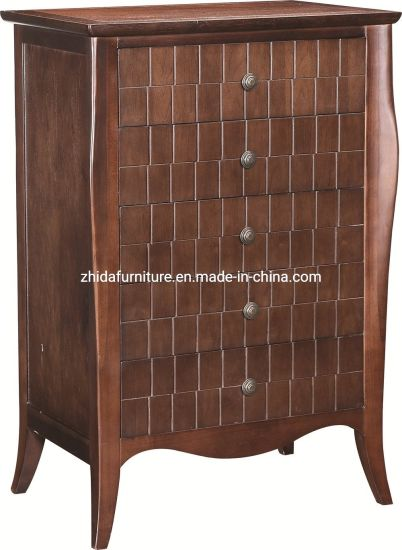 China Modern Solid Wood Wooden Chest Living Room Cabinet Living