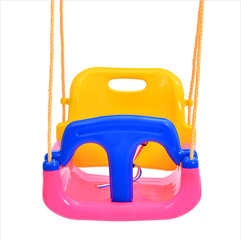 Pe Plastic 4 In 1 Pink Outdoor Garden Adults Baby Swing Chair With
