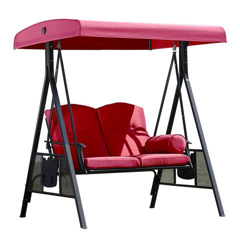 set ayunan taman luaran patio logam pantai teras besi tempa ayunan 2 kerusi tempat duduk kerusi buaian p