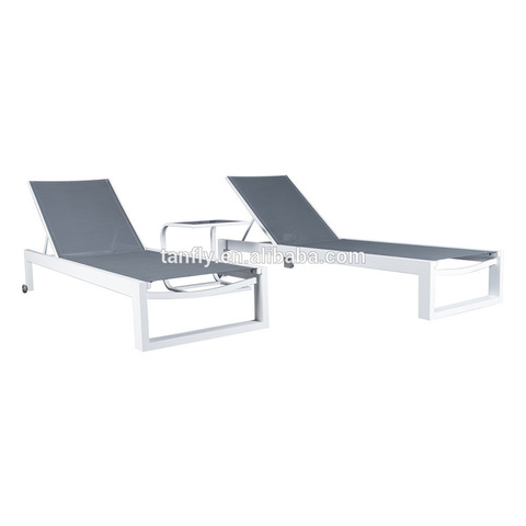 Aluminium Miwwelen Swimming Pool Patio Garden Garden Chaise Lounge