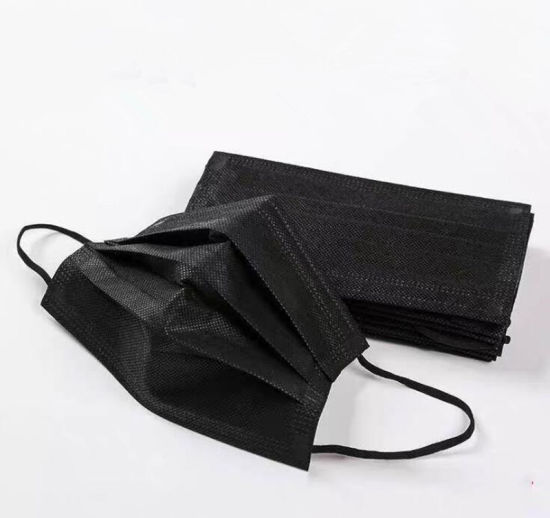 China Black Disposable 3ply Protective Breathable Medical Personal ...