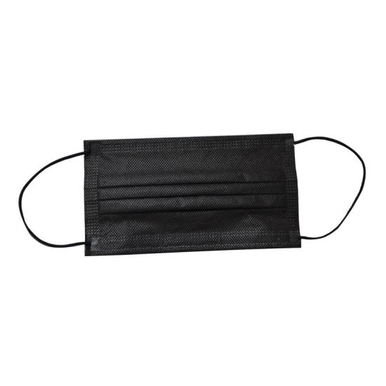 China Black Disposable 3ply Protective Breathable Medical Personal Use Mask