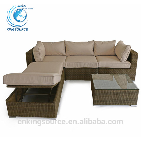 Hot sale cheap outdoor rattan wicker lounge sofa daybed set