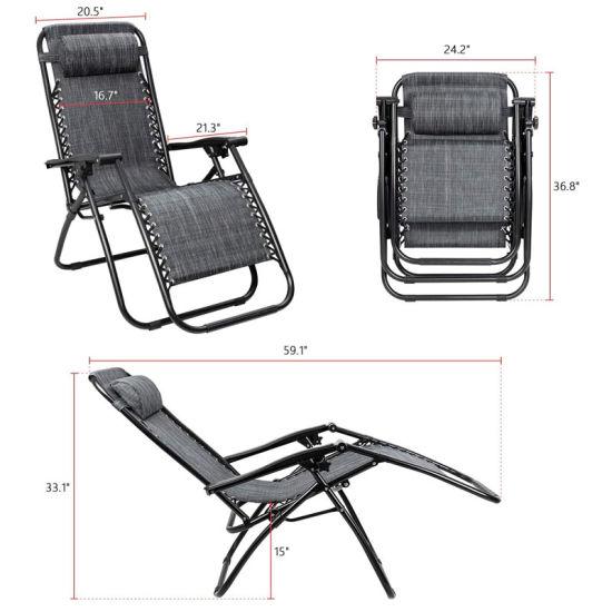 China Outdoor Garden Camping Metal Chair Folding Zero