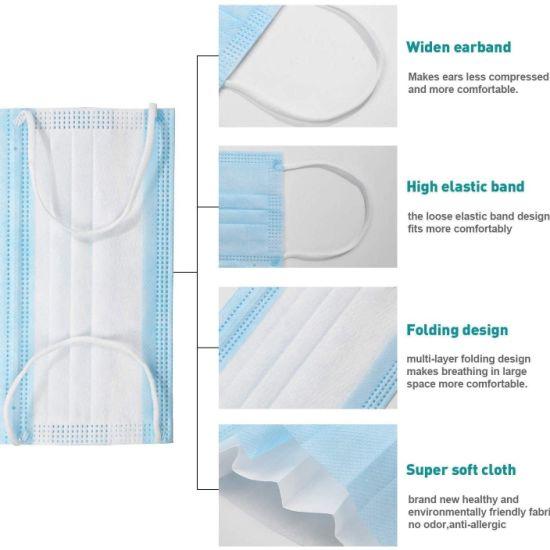 China Disposable Earloop Mouth Face Mask 3-Layer Masks 50PCS ...