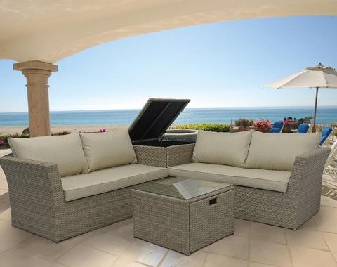 Corner Rattan Garden Furniture Grey Desain Rumah Idaman