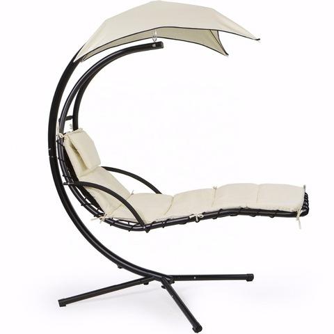 פטיו לבן דלוקס מתנדנד כסאות תלויים מרפסת חיצונית מיטת שיזוף כריות נדנדה גג תלוי יוקרה Sw