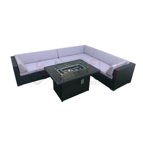 Gbogbo Table Wicker Garden Modular Sofa Ratan base Assembly Assembly Piti Tabili