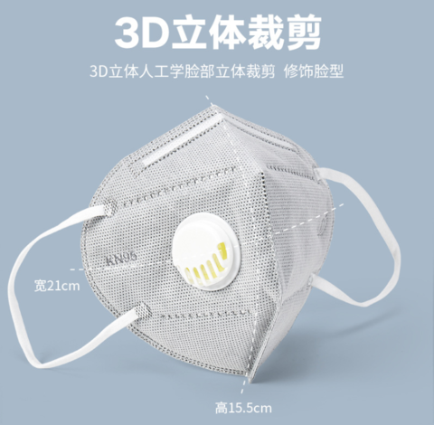 In Stock N95 Mask PM2.5 Anti-dust Washable Unisex Dust Mask Foldable Mask with 3.0 Respiratory Valve pictures & photos
