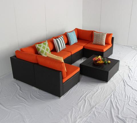 PE Rattan Furniture Corner Sofa Set rattan modular sofa sets