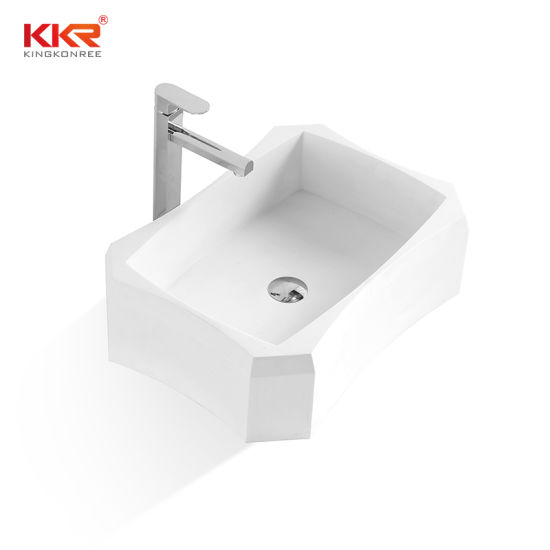 China Sanitary Ware Resin Stone Above Counter Bathroom Sink