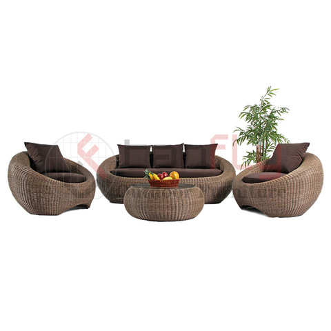 luxury modern style leisure wicker furniture rattan garden sofa