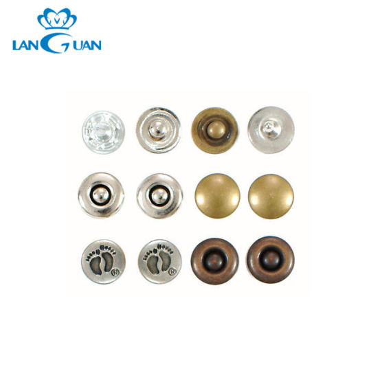 China Metal Decorative Jeans Rivets Buttons Custom BrLogo