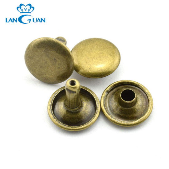 China Various Type Custom Leather Metal Rivet Button