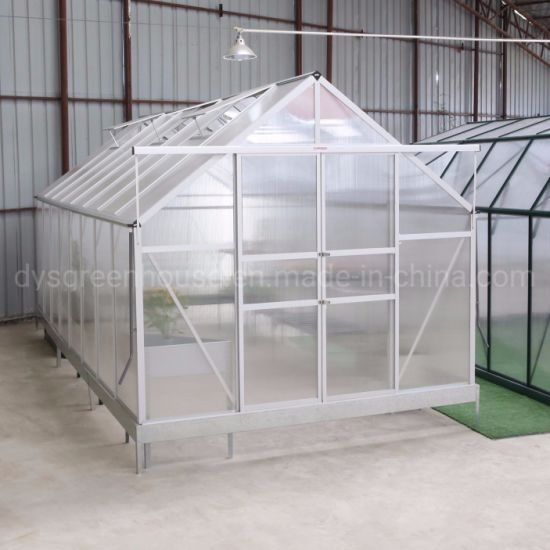China Beautiful Design Home Garden Use Plastic Sheet Greenhouse Polycarbonate Natural Greenhouses Rd