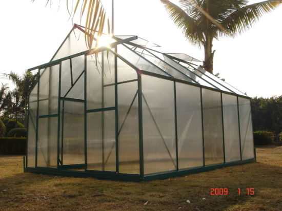 China Large 4m Insulated Aluminium Profile Green House Metal Frame Singlespan Greenhouses China Toma